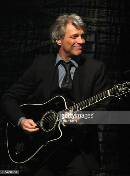 Frontman Jon Bon Jovi of Bon Jovi performs during the 21st annual Keep Memory Alive 'Power of Love Gala' benefit for the Cleveland Clinic Lou Ruvo...