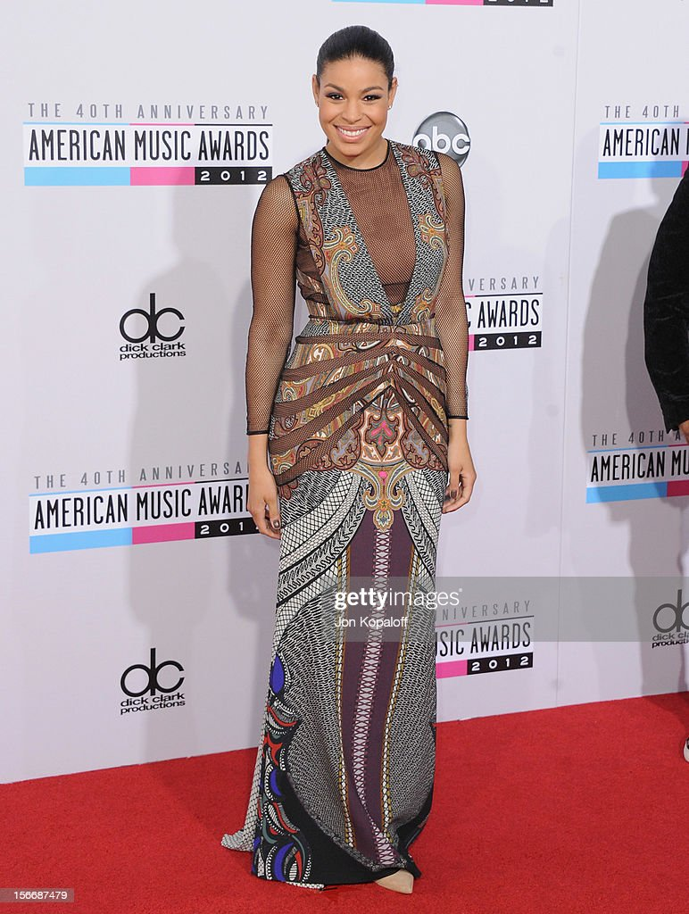 Recording artist Jordin Sparks arrives at The 40th American Music Awards at Nokia Theatre L.A. Live on November 18, 2012 in Los Angeles, California.