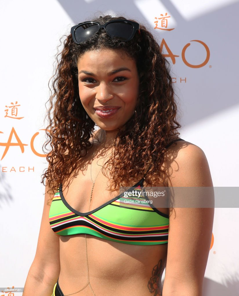 Recording artist <a gi-track='captionPersonalityLinkClicked' href=/galleries/search?phrase=Jordin+Sparks&family=editorial&specificpeople=4165535 ng-click='$event.stopPropagation()'>Jordin Sparks</a> arrives at the grand opening of Tao Beach season at the Tao Beach at The Venetian Las Vegas on April 19, 2014 in Las Vegas, Nevada.