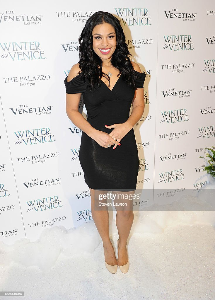 Recording artist Jordin Sparks arrives to perform for the 'Winter in Venice' at The Venetian Resort Hotel Casino on November 21 2011 in Las Vegas...