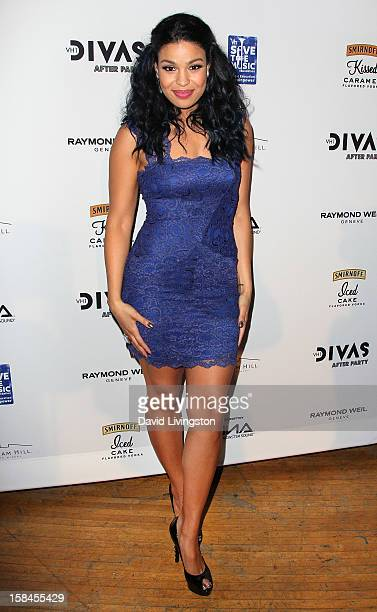 Recording artist Jordin Sparks attends the VH1 Divas After Party to benefit the VH1 Save The Music Foundation at the Shrine Expo Hall on December 16...