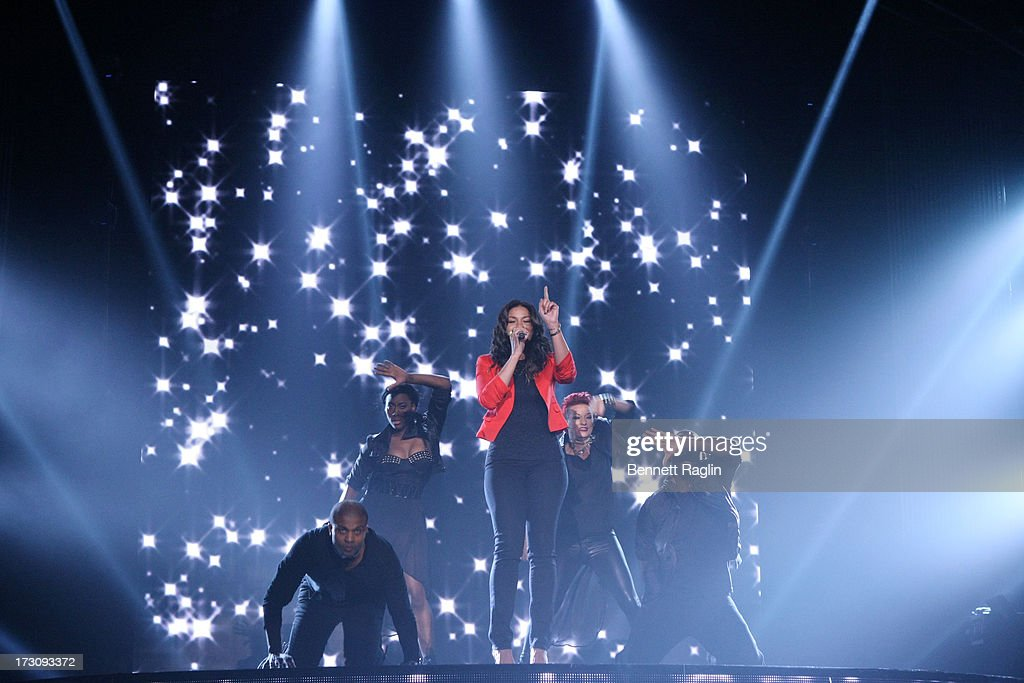 Recording artist Jordin Sparks performs during the 2013 365 Black Awards at the Ernest N. Morial Convention Center on July 6, 2013 in New Orleans, Louisiana.