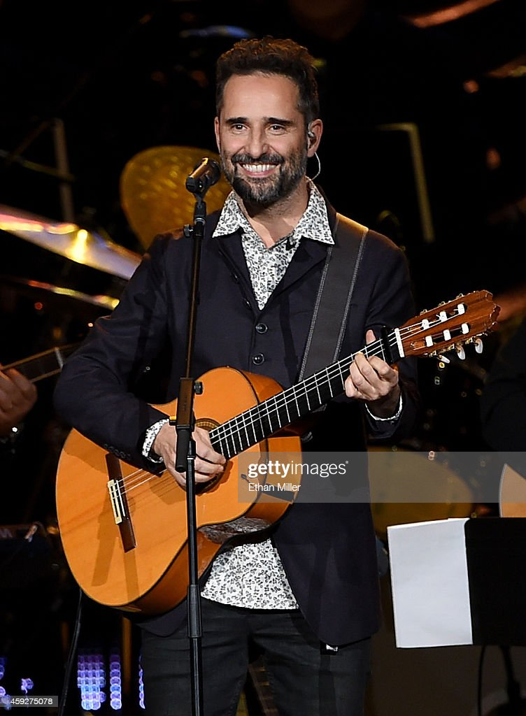 Recording artist Jorge Drexler performs onstage during the 2014 Person of the Year honoring Joan Manuel Serrat at the Mandalay Bay Events Center on...