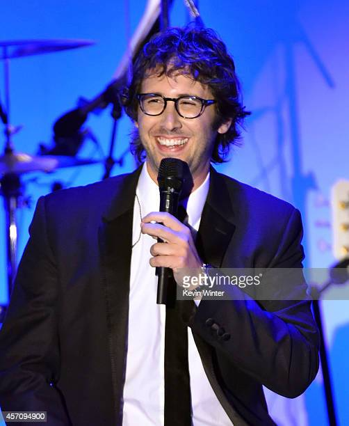 Recording artist Josh Groban performs onstage at the 2014 Carousel of Hope Ball presented by MercedesBenz at The Beverly Hilton Hotel on October 11...