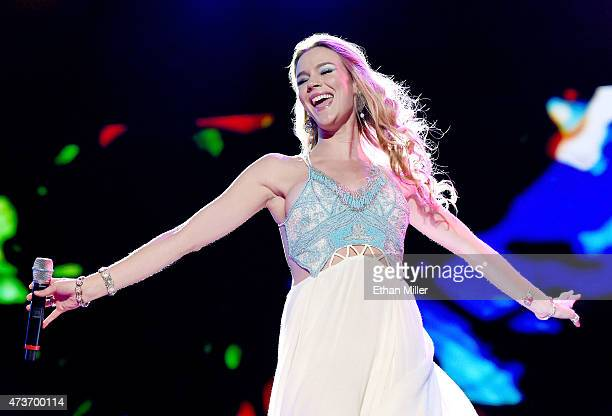 Recording artist Joss Stone performs onstage during Rock in Rio USA at the MGM Resorts Festival Grounds on May 16 2015 in Las Vegas Nevada