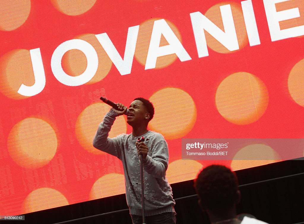 Recording artist Jovanie performs onstage at the Coke music studio during the 2016 BET Experience on June 25, 2016 in Los Angeles, California.