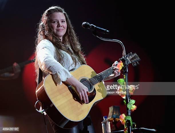 Recording artist Joy Huerta of music group Jesse Joy performs onstage during the iHeartRadio Fiesta Latina festival presented by Sprint at The Forum...