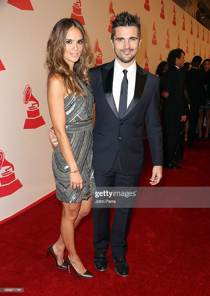 Recording Artist <a gi-track='captionPersonalityLinkClicked' href=/galleries/search?phrase=Juanes&family=editorial&specificpeople=202467 ng-click='$event.stopPropagation()'>Juanes</a> (R) and actress <a gi-track='captionPersonalityLinkClicked' href=/galleries/search?phrase=Karen+Martinez&family=editorial&specificpeople=2709460 ng-click='$event.stopPropagation()'>Karen Martinez</a> attend the 2013 Latin Recording Academy Special Awards during the 14th annual Latin GRAMMY Awards on November 20, 2013 in Las Vegas, Nevada.