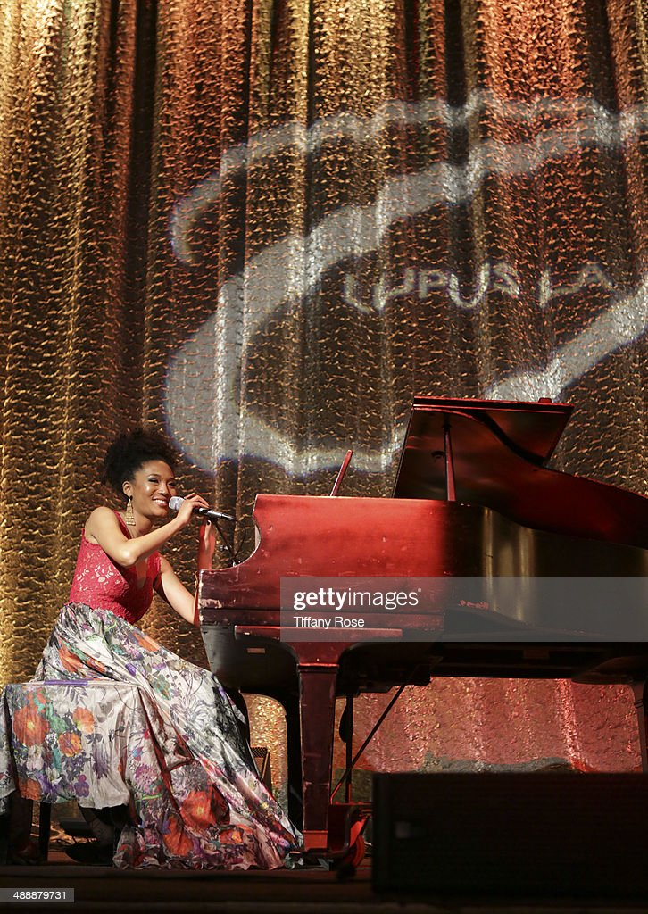 Recording artist <a gi-track='captionPersonalityLinkClicked' href=/galleries/search?phrase=Judith+Hill&family=editorial&specificpeople=5964031 ng-click='$event.stopPropagation()'>Judith Hill</a> performs at the Lupus LA Orange Ball on May 8, 2014 in Beverly Hills, California.