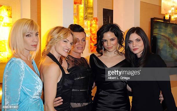 Recording artist Juliette Beavan actress Victoria Pratt makeup artist Natalie Vincetich actress Katrina Law and actress Jodi Lyn O'Keefe attend TJ...