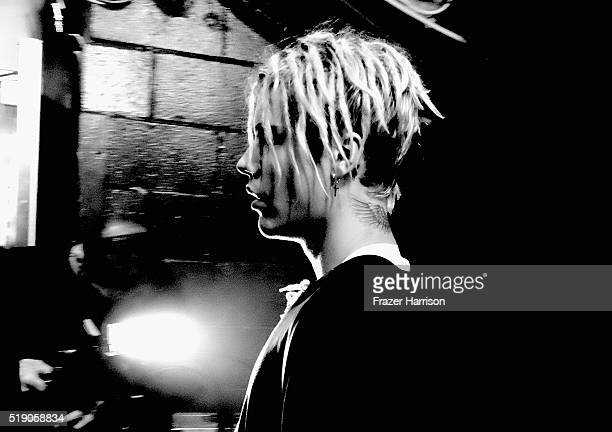 Recording artist Justin Beiber attends the iHeartRadio Music Awards at The Forum on April 3 2016 in Inglewood California