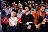 Recording artist Justin Bieber attends open practice at Madison Square Garden on October 26 2014 in New York City New York NOTE TO USER User...