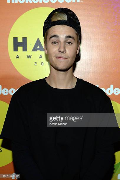 Recording artist Justin Bieber attends the 2015 Nickelodeon HALO Awards at Pier 36 on November 14 2015 in New York City