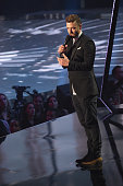 Recording artist Justin Timberlake speaks onstage at the iHeartRadio Music Awards which broadcasted live on TBS TNT AND TRUTV from The Forum on April...