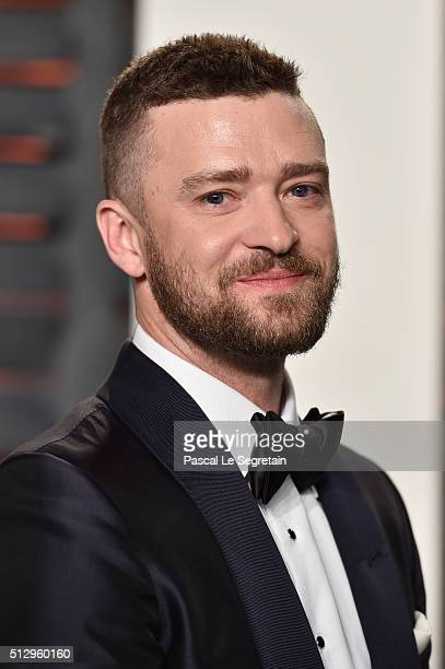 Recording artist Justin Timberlakeattends the 2016 Vanity Fair Oscar Party Hosted By Graydon Carter at the Wallis Annenberg Center for the Performing...