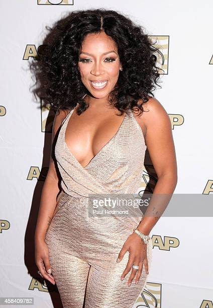 Recording artist K Michelle arriving at ASCAP's 6th Annual 'Women Behind The Music' at Bardot on October 7 2014 in Los Angeles California