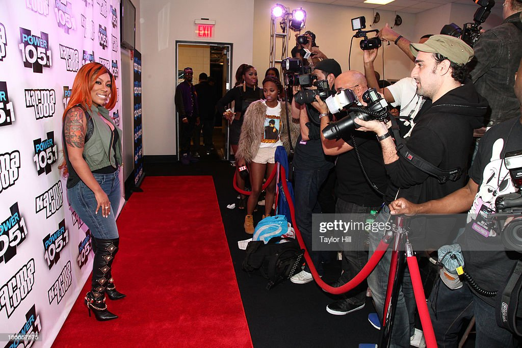 Recording artist K. Michelle attends Power 105.1's Powerhouse 2013, presented by Play GIG-IT, at Barclays Center on November 2, 2013 in New York City.