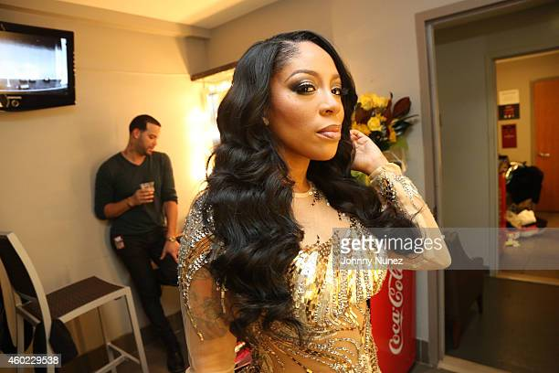 Recording artist K Michelle seen backstage at The Apollo Theater on December 9 2014 in New York City