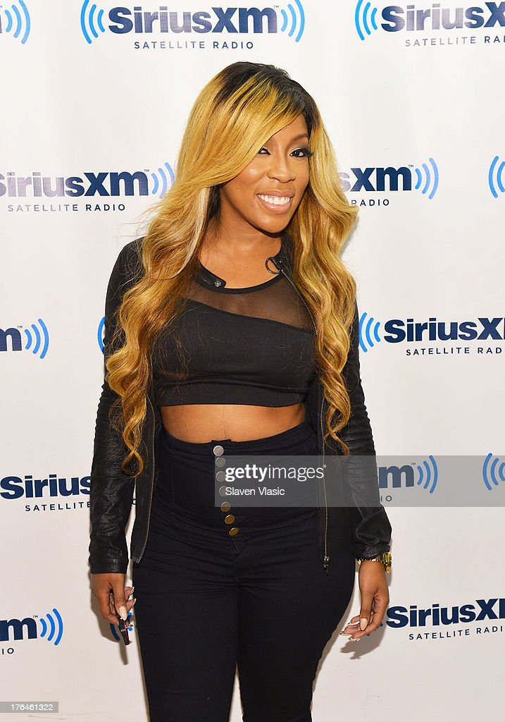 Recording artist K Michelle visits SiriusXM Studios on August 13, 2013 in New York City.