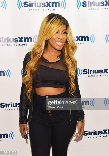 Recording artist K Michelle visits SiriusXM Studios on August 13 2013 in New York City