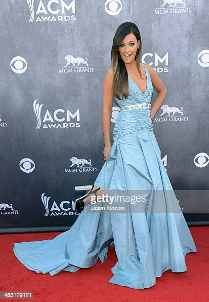 Recording artist Kacey Musgraves attends the 49th Annual Academy Of Country Music Awards at the MGM Grand Garden Arena on April 6 2014 in Las Vegas...