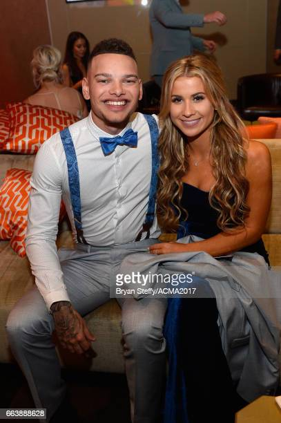 Recording artist Kane Brown and guest attend the 52nd Academy Of Country Music Awards at TMobile Arena on April 2 2017 in Las Vegas Nevada