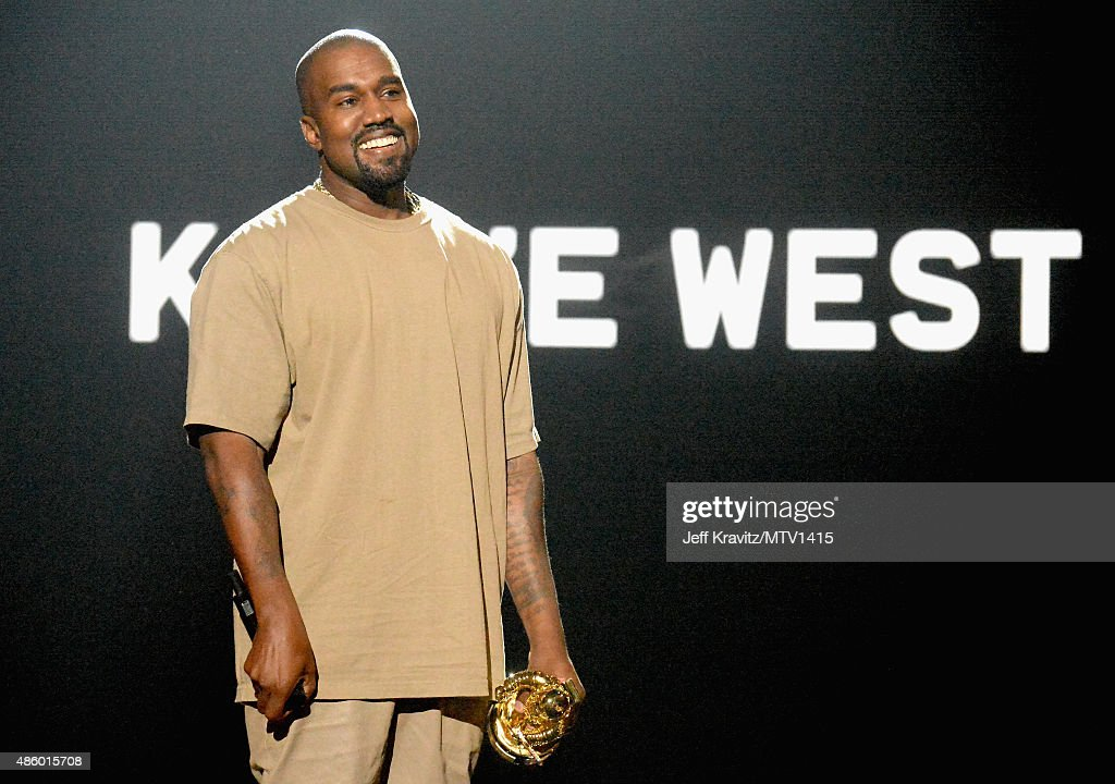 Recording artist Kanye West accepts the Michael Jackson Video Vanguard Award onstage during the 2015 MTV Video Music Awards at Microsoft Theater on...