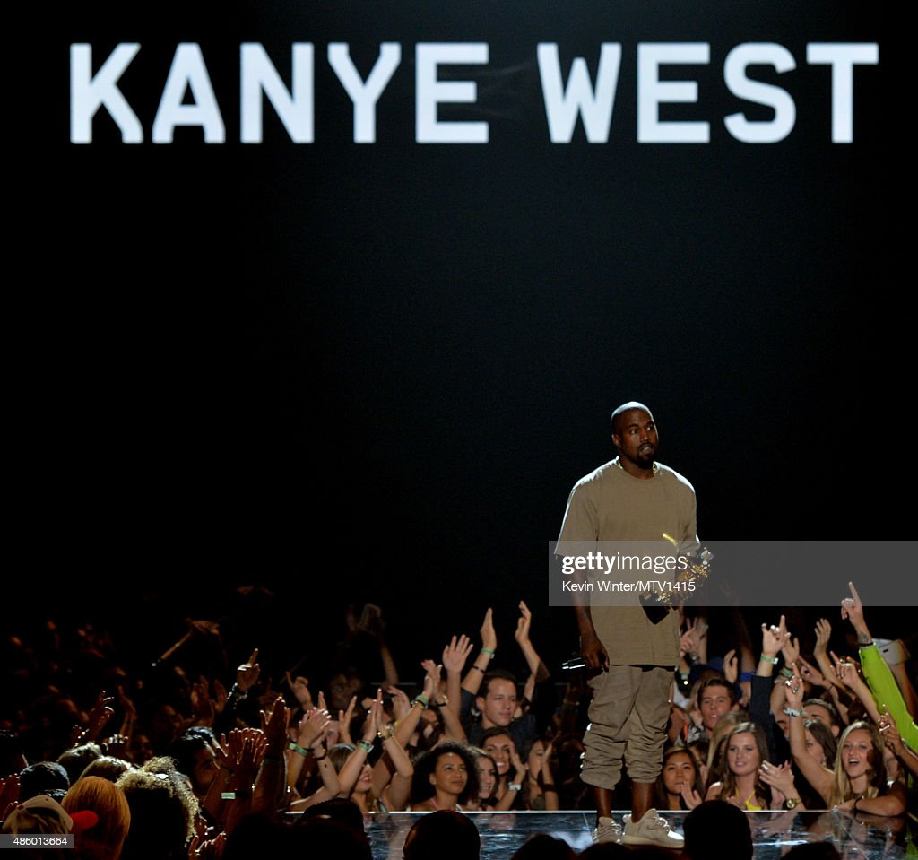 Recording artist Kanye West accepts the Video Vanguard Award onstage during the 2015 MTV Video Music Awards at Microsoft Theater on August 30, 2015 in Los Angeles, California.