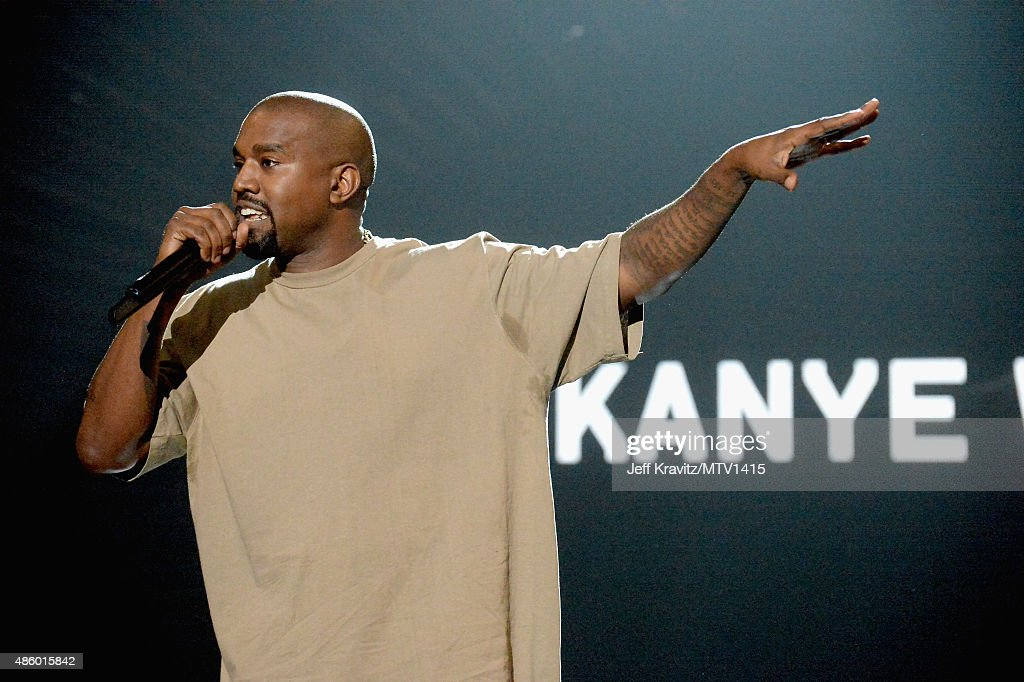 Recording artist Kanye West speaks onstage during the 2015 MTV Video Music Awards at Microsoft Theater on August 30 2015 in Los Angeles California