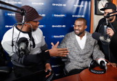 Recording artist Kanye West visits 'Sway in the Morning' with Sway Calloway on Eminem's Shade 45 at the SiriusXM Studios on November 26 2013 in New...