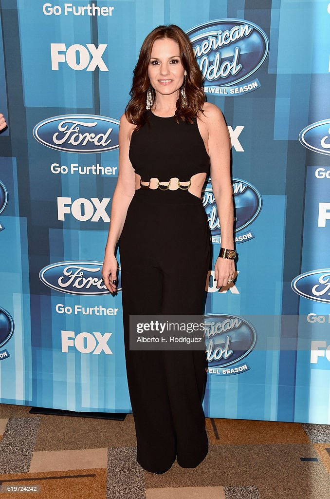 Recording artist Kara DioGuardi attends FOX's 'American Idol' Finale For The Farewell Season at Dolby Theatre on April 7, 2016 in Hollywood, California.