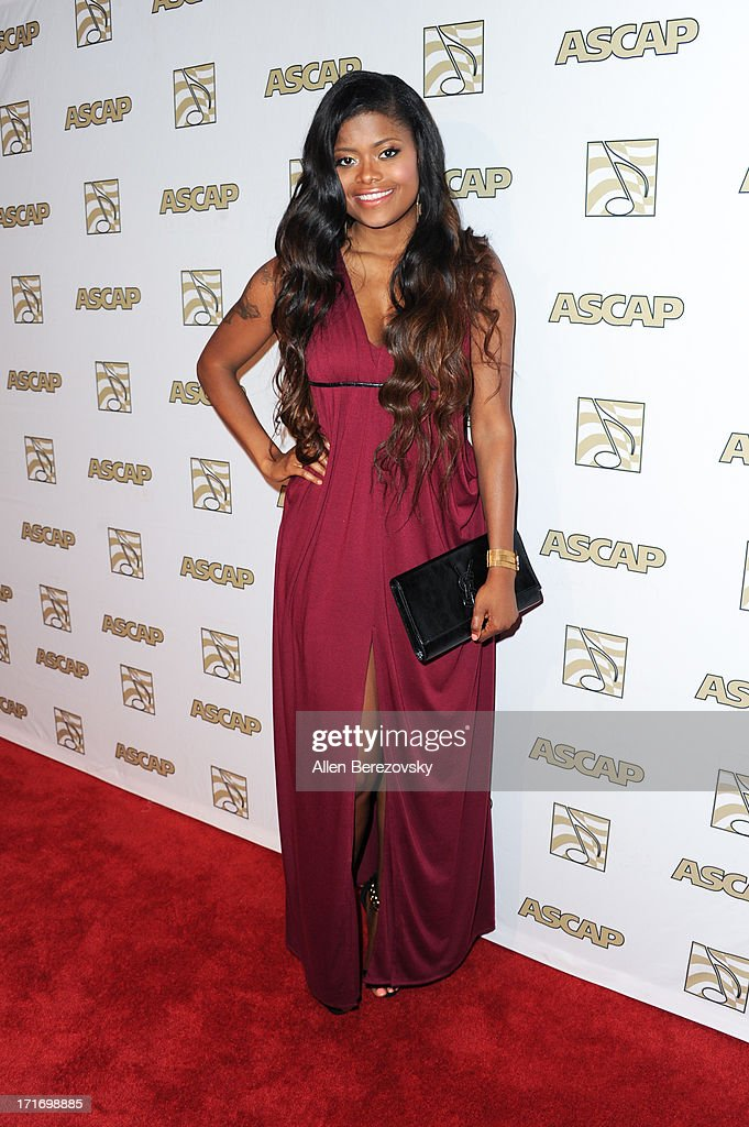 Recording artist Karen Civil arrives at ASCAP's 26th Annual Rhythm & Soul Music Awards at The Beverly Hilton Hotel on June 27, 2013 in Beverly Hills, California.