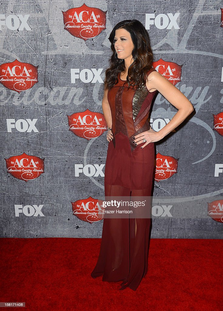 Recording artist Karen Fairchild of Little Big Town arrives at the 2012 American Country Awards at the Mandalay Bay Events Center on December 10, 2012 in Las Vegas, Nevada.