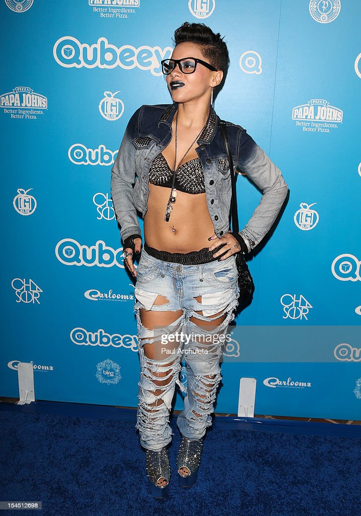 Recording Artist Karma attends the Qubeey launch party on October 20, 2012 in Beverly Hills, California.