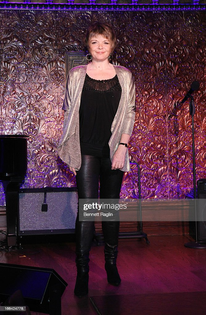 Recording artist Karrin Allyson attends the Press Preview at 54 Below on April 12, 2013 in New York City.