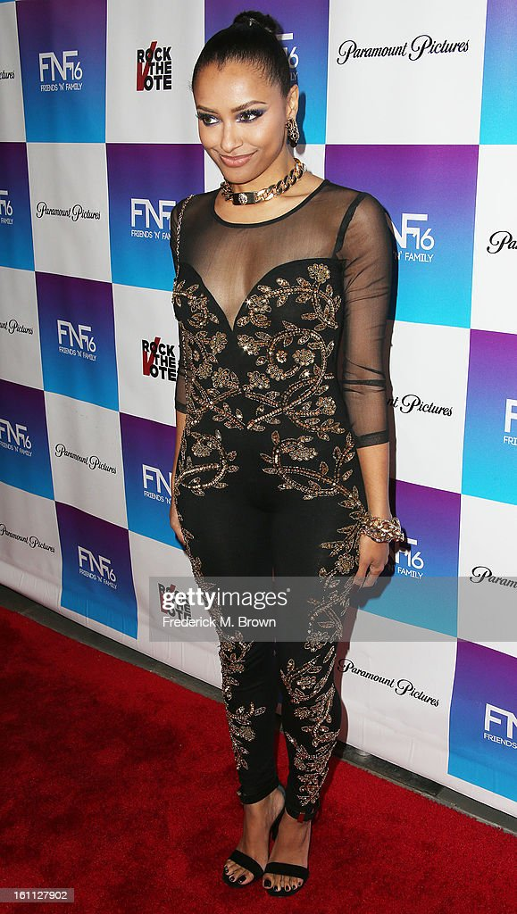 Recording artist Kat Graham attends the 16th Annual 'Friends 'N' Family' Pre-GRAMMY Event at Paramount Studios on February 8, 2013 in Hollywood, California.