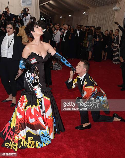 Recording artist Katy Perry and designer Jeremy Scott attend the 'China Through The Looking Glass' Costume Institute Benefit Gala at the Metropolitan...