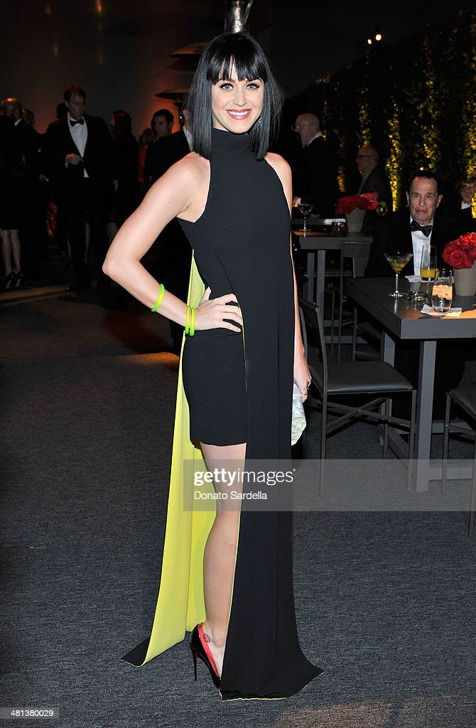 Recording artist <a gi-track='captionPersonalityLinkClicked' href=/galleries/search?phrase=Katy+Perry&family=editorial&specificpeople=599558 ng-click='$event.stopPropagation()'>Katy Perry</a> attends MOCA's 35th Anniversary Gala presented by Louis Vuitton at The Geffen Contemporary at MOCA on March 29, 2014 in Los Angeles, California.