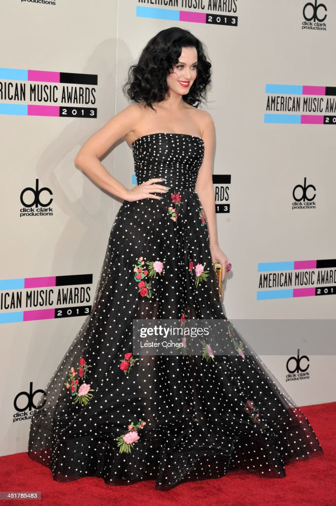 Recording artist Katy Perry attends the 2013 American Music Awards at Nokia Theatre L.A. Live on November 24, 2013 in Los Angeles, California.