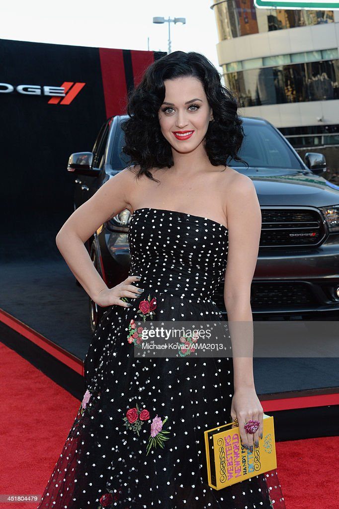 Recording artist Katy Perry attends the 2013 American Music Awards Powered by Dodge at Nokia Theatre L.A. Live on November 24, 2013 in Los Angeles, California.
