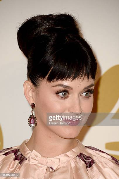 Recording artist Katy Perry attends 'The Night That Changed America A GRAMMY Salute To The Beatles' at the Los Angeles Convention Center on January...