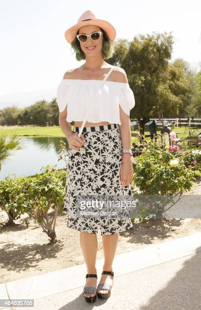 Recording Artist Katy Perry attends the Spotify Brunch at Soho Desert House with Bacardi Day 2n April 12 2014 in La Quinta California