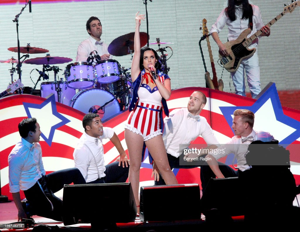 Recording artist <a gi-track='captionPersonalityLinkClicked' href=/galleries/search?phrase=Katy+Perry&family=editorial&specificpeople=599558 ng-click='$event.stopPropagation()'>Katy Perry</a> performs during the 2013 Kids' Inaugural: Our Children, Our Future on January 19, 2013 in Washington, United States.
