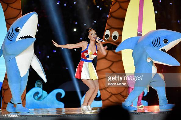 Recording artist Katy Perry performs onstage during the Pepsi Super Bowl XLIX Halftime Show at University of Phoenix Stadium on February 1 2015 in...