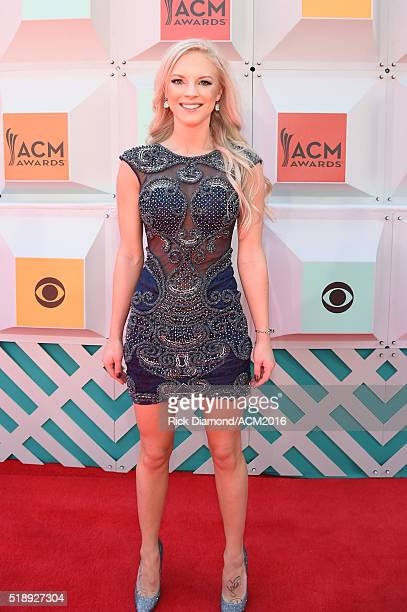 Recording artist Kayla Adams attends the 51st Academy of Country Music Awards at MGM Grand Garden Arena on April 3 2016 in Las Vegas Nevada