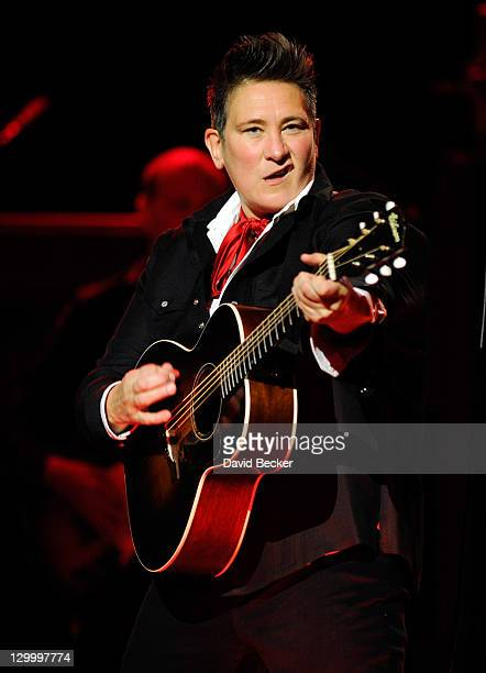 Recording artist kd lang performs at The Pearl concert theater at the Palms Casino Resort on October 22 2011 in Las Vegas Nevada