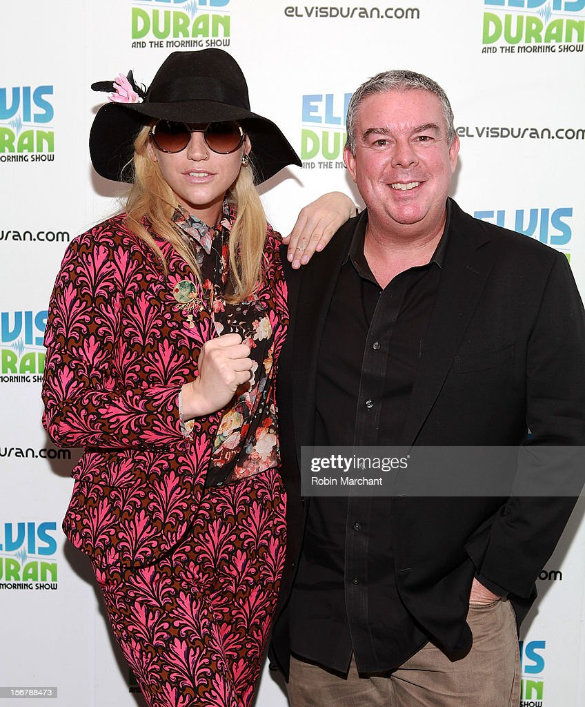Recording artist Ke$ha (L) and Elvis Duran visits at Z100 Studio on November 20, 2012 in New York City.