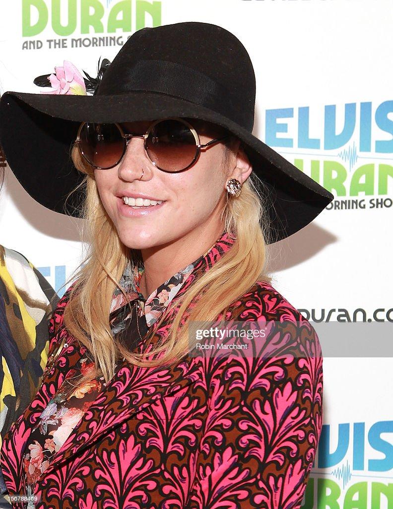 Recording artist Ke$ha visits at Z100 Studio on November 20, 2012 in New York City.