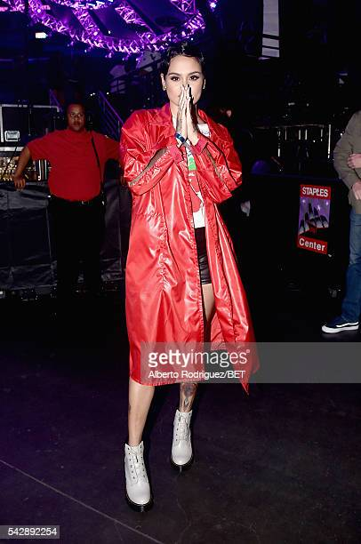 Recording artist Kehlani attends the 2016 BET Experience at Staples Center on June 24 2016 in Los Angeles California