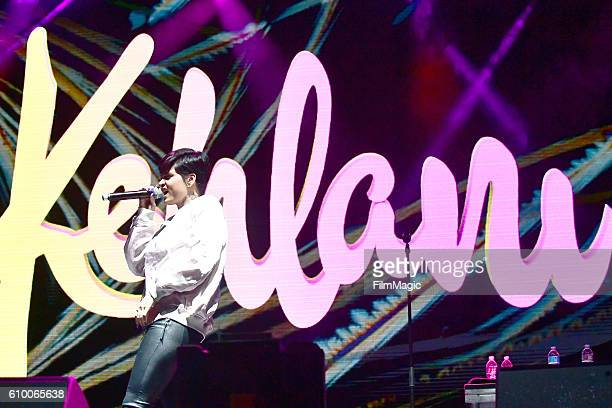Recording artist Kehlani performs on Ambassador Stage during day 1 of the 2016 Life Is Beautiful festival on September 23 2016 in Las Vegas Nevada